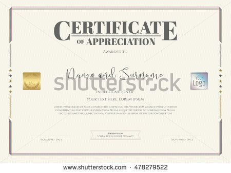 Certificate Of Appreciation Template With Watermark Background