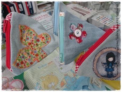 Triangulo bolsa con cremallera #Costuracreativa #Manualidades
