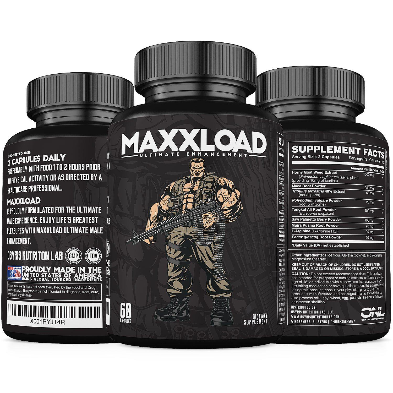 Maxxload Ultimate Male Enhancement Pills 60 Capsules 1 Volumizer
