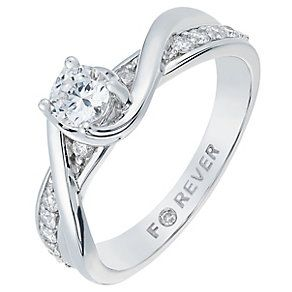 The Forever Diamond 18ct White Gold 1 2 Carat Ring Product Number 2775476