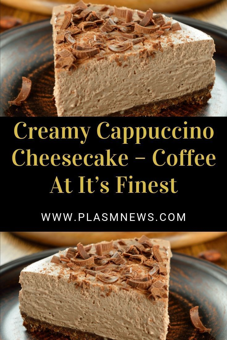 Creamy cappuccino cheesecake coffee at its finest in