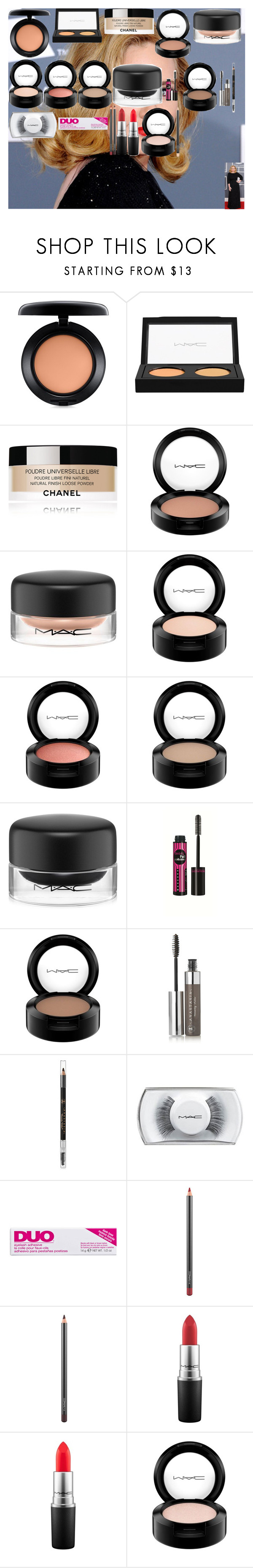 """""""ADELE GRAMMYS MAKE-UP TUTORIAL"""" by oroartye-1 on Polyvore featuring beauty, MAC Cosmetics, Chanel, Bourjois, Anastasia Beverly Hills and DUO"""