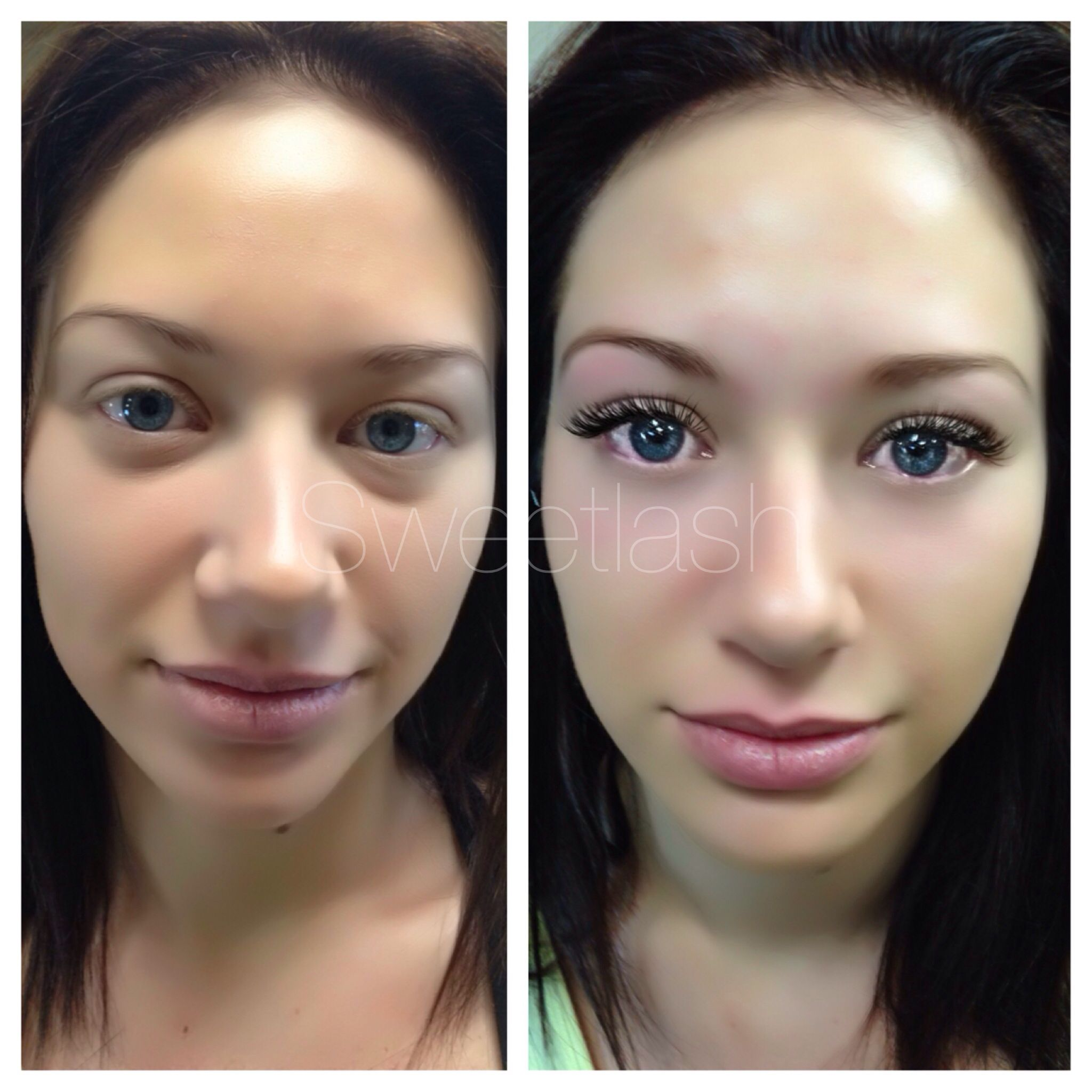 before amp after eyelash extensions lashes pinterest