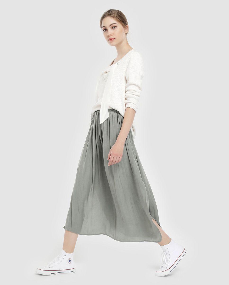 b431d0a15 Falda larga de mujer Southern Cotton con cintura elástica en 2019 ...