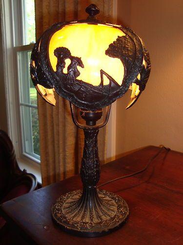 Details About Vintage Sale M Brothers Art Deco Lamp 4