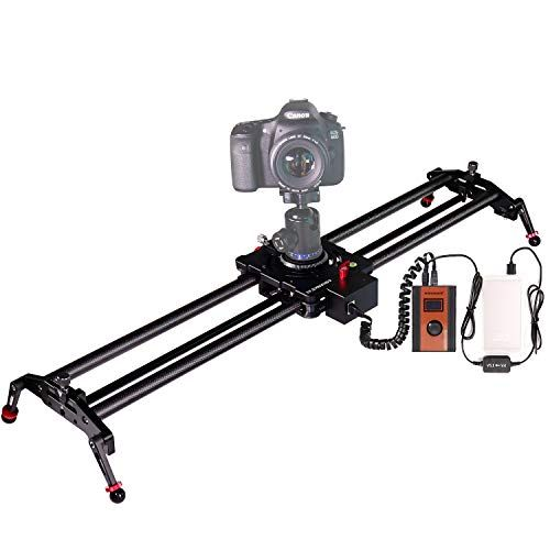 Electric Camera Slider,ASHANKS Carbon Fiber 0.8m/2.6ft Mo