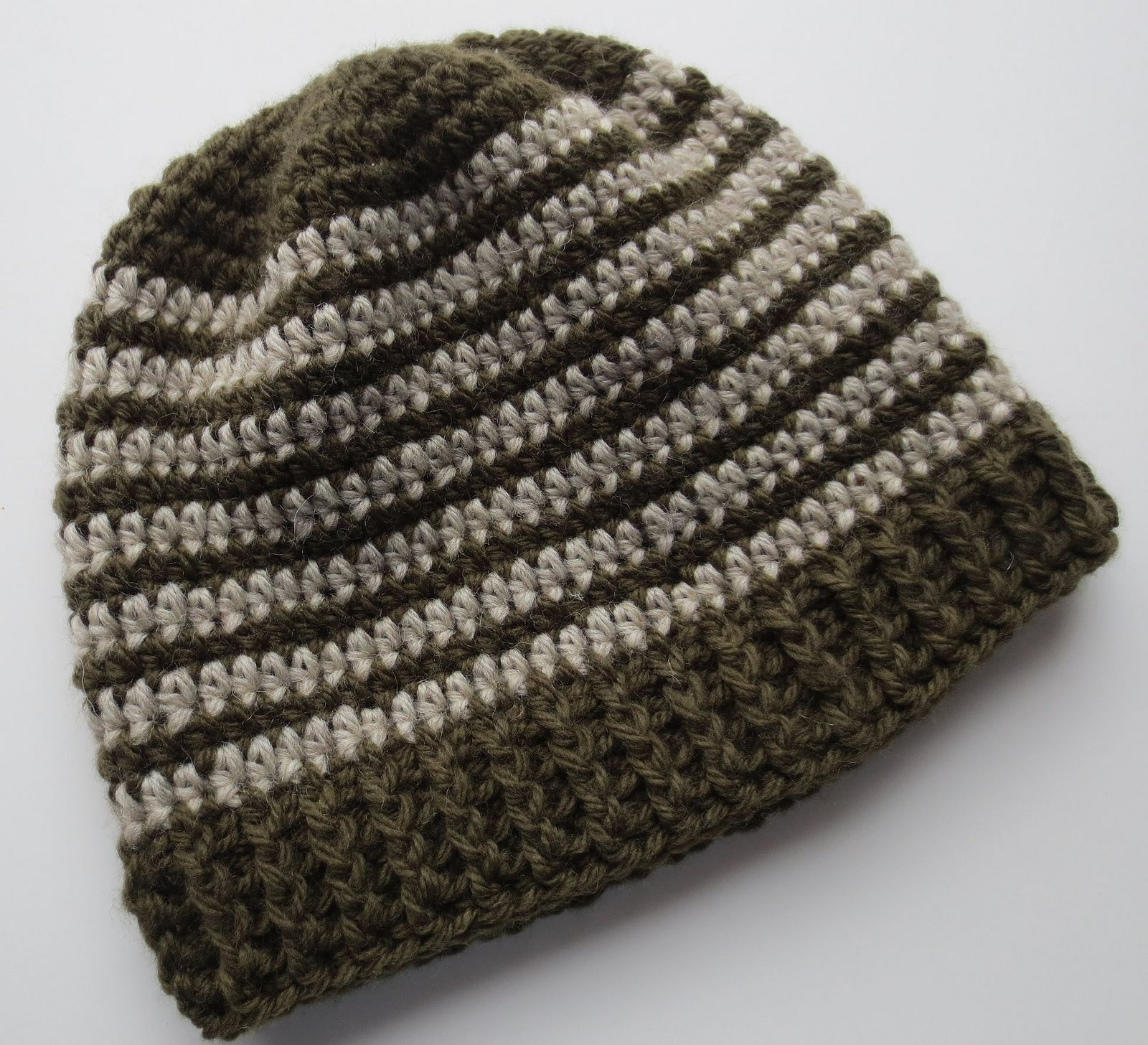 Crocheted Ribbed Hat Pattern | My Recycled Bags.com | Crochet - hats ...