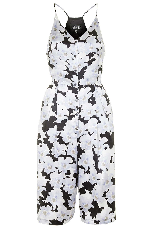 Silk Floral Print Culotte Jumpsuit by Topshop Reclaim   Topshop ...