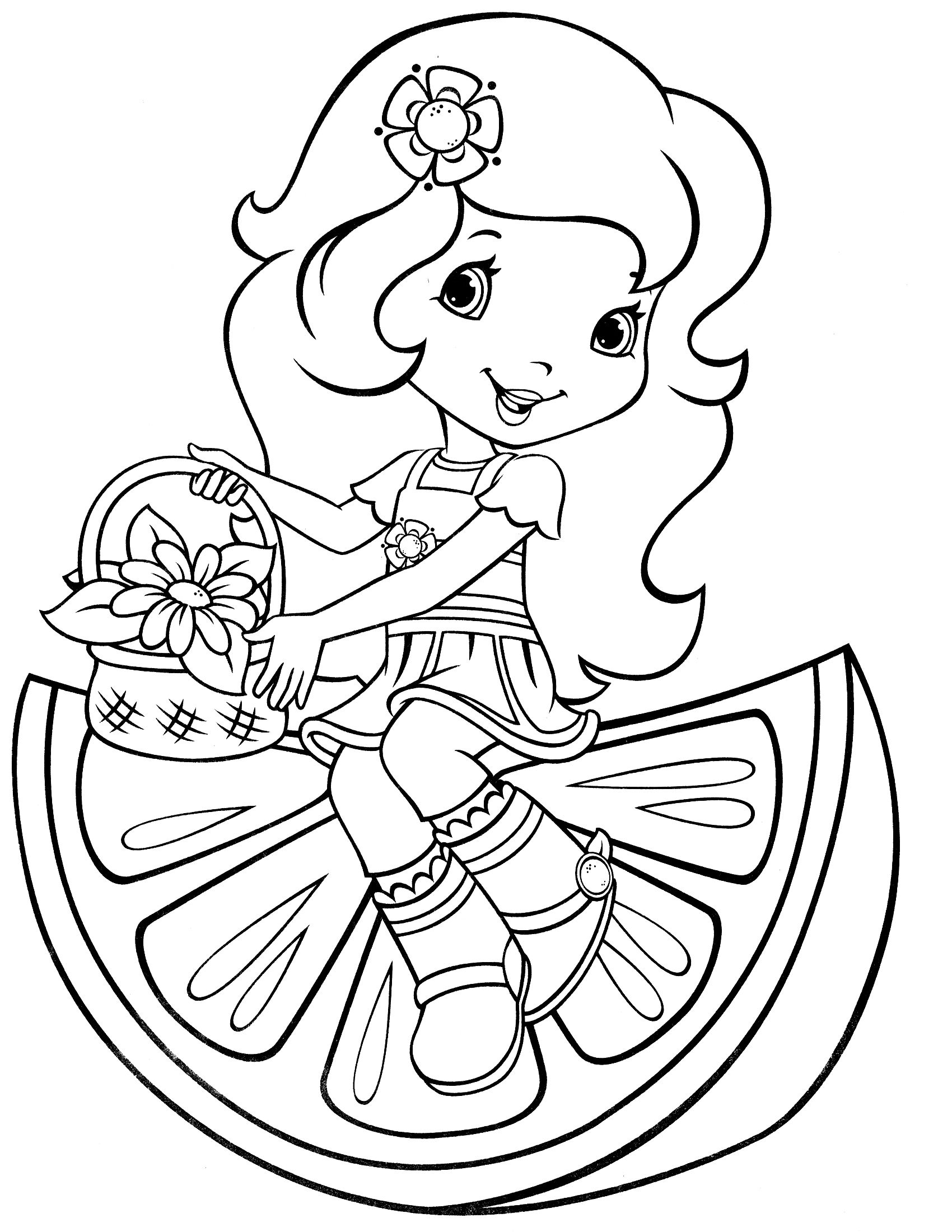 Strawberry Shortcake Coloring Page Coloring Strawberry Shortcake