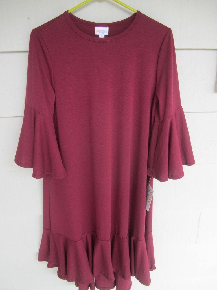 6abf98308a4 NWT LulaRoe Maurine Dress Burgundy Maroon Size Medium  LuLaRoe  DRESS