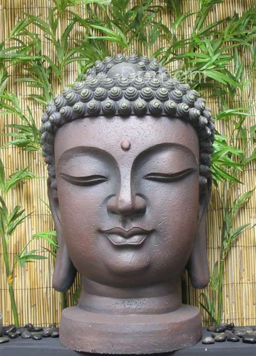 23 buddha head garden statue buddha collection. Black Bedroom Furniture Sets. Home Design Ideas