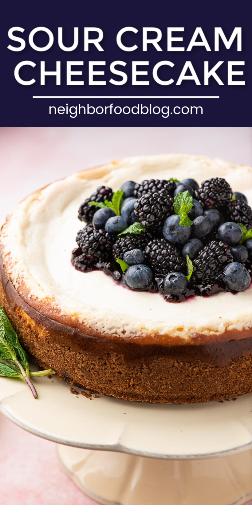 This Is The Best Cheesecake Recipe I Ve Ever Made And It S So Easy This Classic In 2020 Sour Cream Cheesecake Instant Pot Cheesecake Recipe Homemade Recipes Dessert