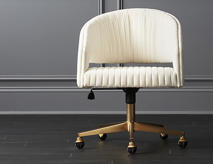 Fine Channel Ivory Velvet Office Chair Reviews Shipsi Hq Caraccident5 Cool Chair Designs And Ideas Caraccident5Info