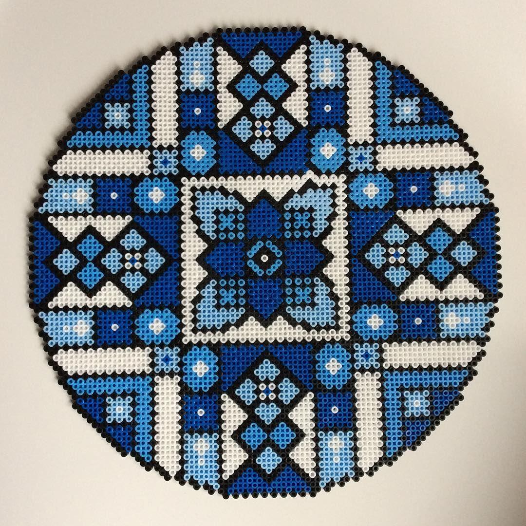 Mandala hama perler art by _the_creative_girls_ | A Perler bead ...