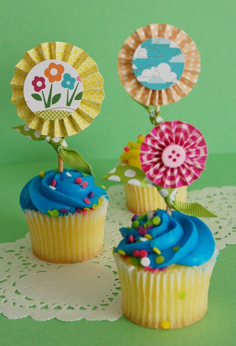 bits cupcake topper by jen gallacher