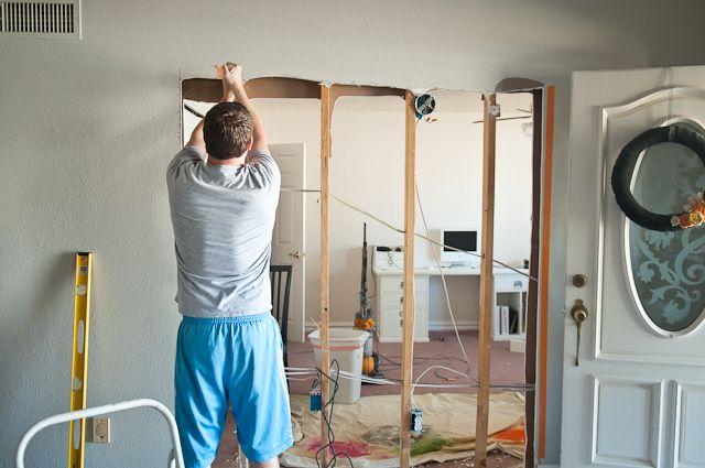 DIY Barn Door, Making Hole In Wall