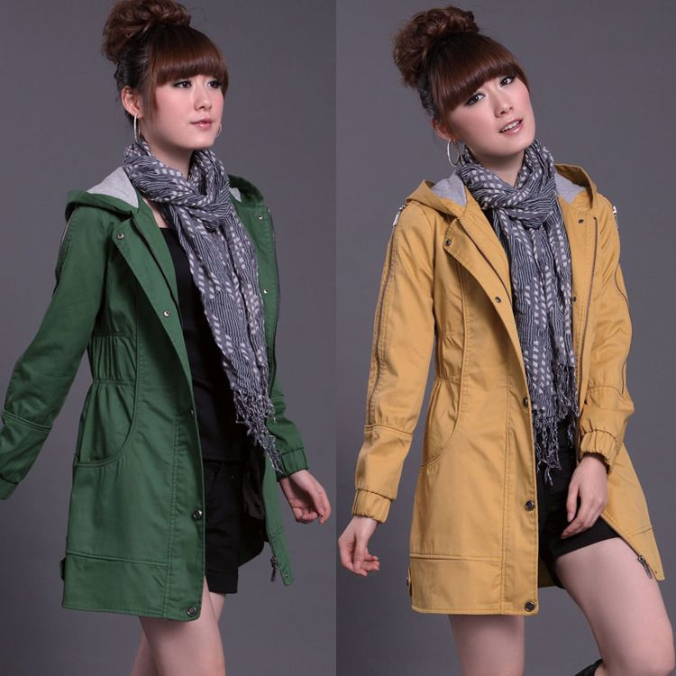 Cheap Plus size slim women jacket coat with hooded in women outcoat from women clothing on sightface.com