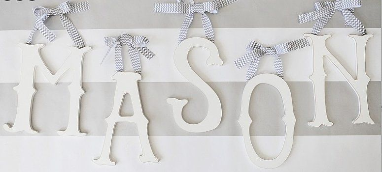 Drewniane Literki Litery Imie Dziecka 3d 22 Cm 4319029540 Oficjalne Archiwum Allegro Nursery Letters Wooden Wall Letters Baby Room Inspiration