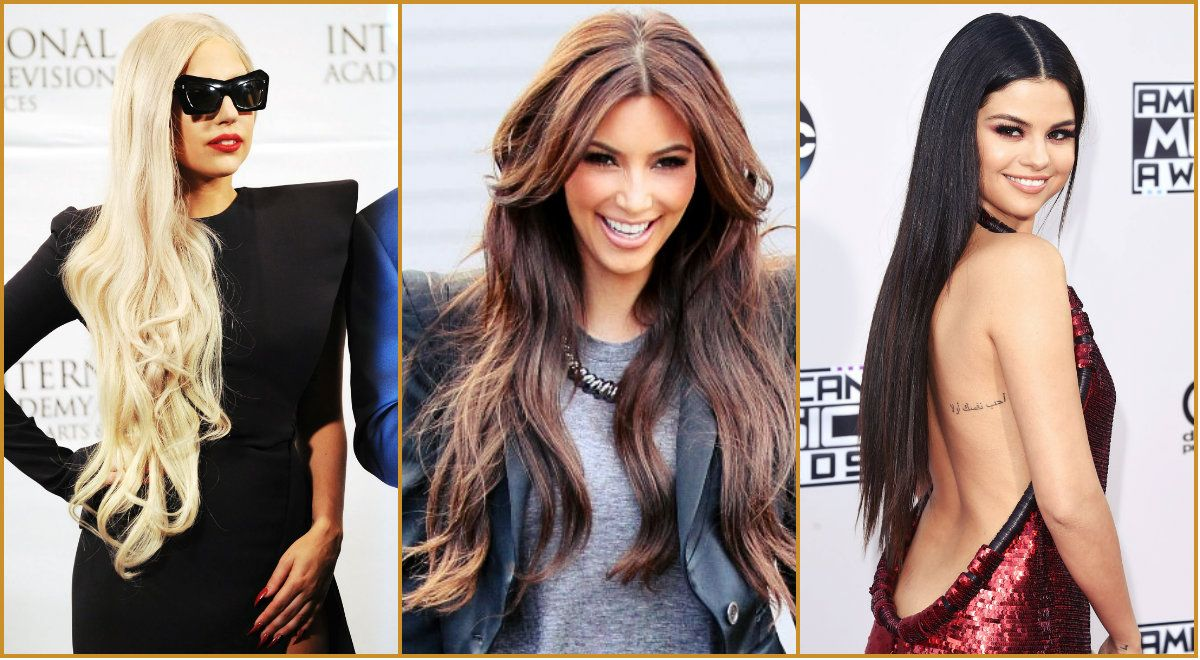 Celebrities hair Espectaculares peinados de famosos largas