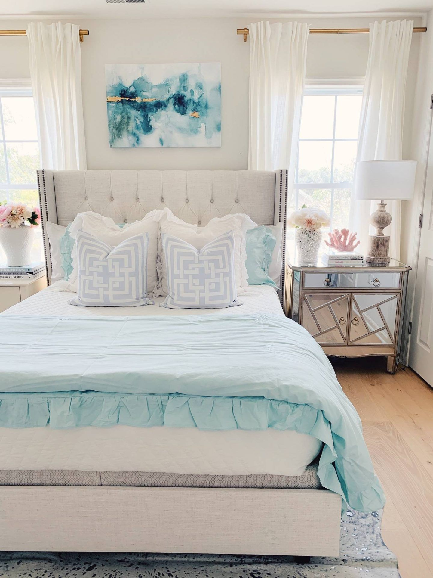 Coastal Inspired Bedroom Ideas With Walmart The Pink Dream Furniture Beach Decor Inspirations