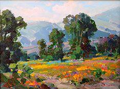 Ovanes Berberian, Waterhouse Gallery, Artist, Waterhouse Gallery, Landscape and Still Lfe Artist, bold use os color, Waterhouse Gallery Santa Barbara California