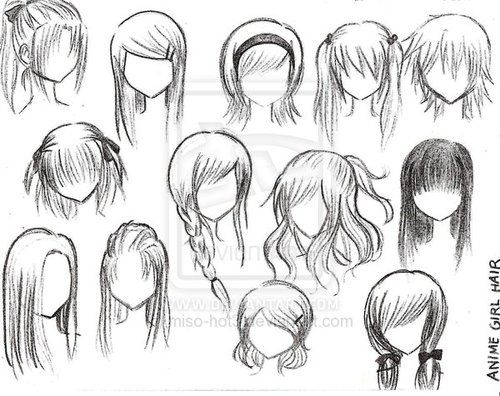 I hate anime but some of these hairstyles look good on regular people drawings