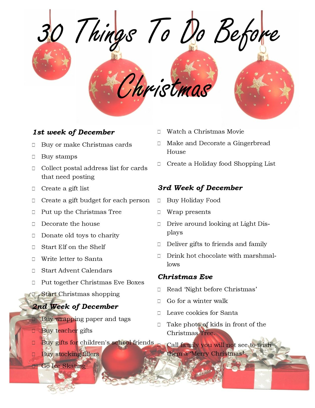 30 things to do before christmas christmas cards to make