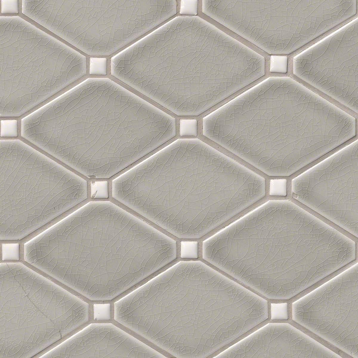 Dove Gray Diamond 8mm Mosaic Tile Diamond Tile Diamond Backsplash Ceramic Mosaic Tile