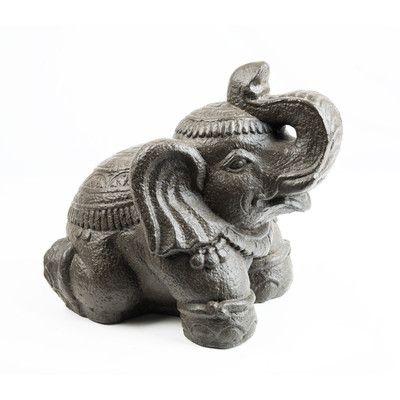 My Spirit Garden Volcanic Ash Royal Elephant Statue & Reviews ...