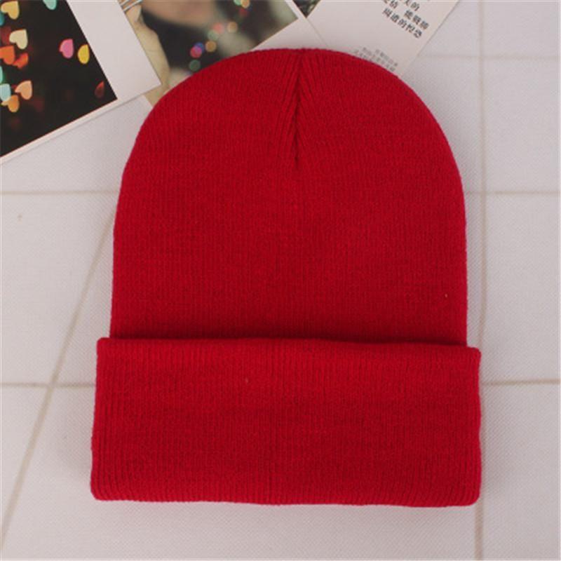a487cf218b9 2018 Spring Beanies Woolen Cap Men Winter Hat For Women Solid Skullies Hip  Hop Hats Autumn Casual Unisex Knit Beanie Warm Caps