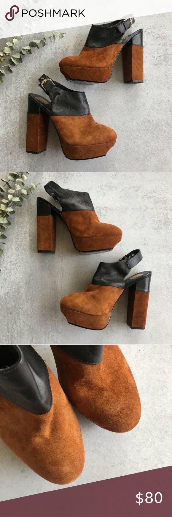 Dolce Vita Joanna Leather Slingback Platforms 9 5 In 2020 Dolce Vita Slingback Dolce Vita Shoes