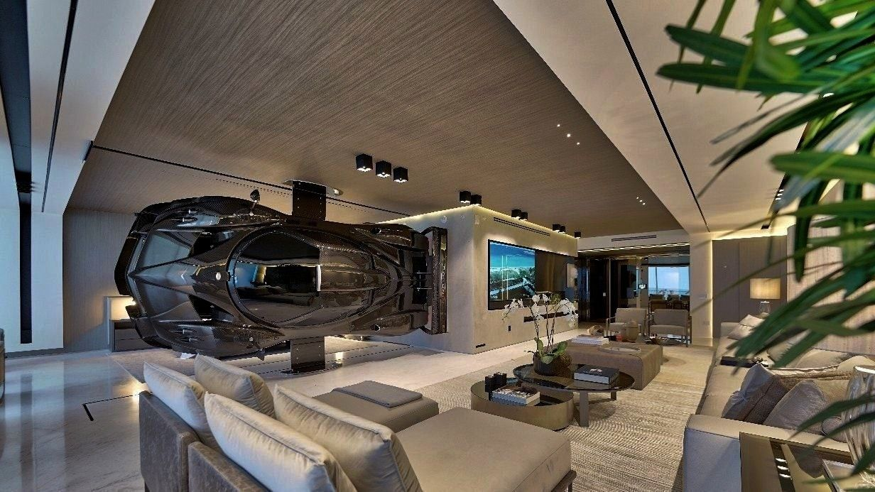 This Miami Home Used a $1.5 Million Race Car to Divide a Room There are only 15 Pagani Zonda R sup