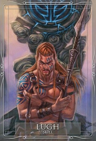 Lugh….Celtic (Welsh, Irish) God, also known as Lleu, Llew and Lugh the Many Skilled. He is a druid, carpenter, poet, and mason. His animals are the raven and the lynx. He symbolizes healing, reincarnation, prophecy, and revenge. Also a Sun God as well hence the Pagan Sabbath Lughnasadh, his namesake. Son of Cian, a Tuatha de Danaan. Of legend, his skills were without end; in Ireland he was associated with ravens; and a white stag as his symbol in Wales. He had a magic spear and…
