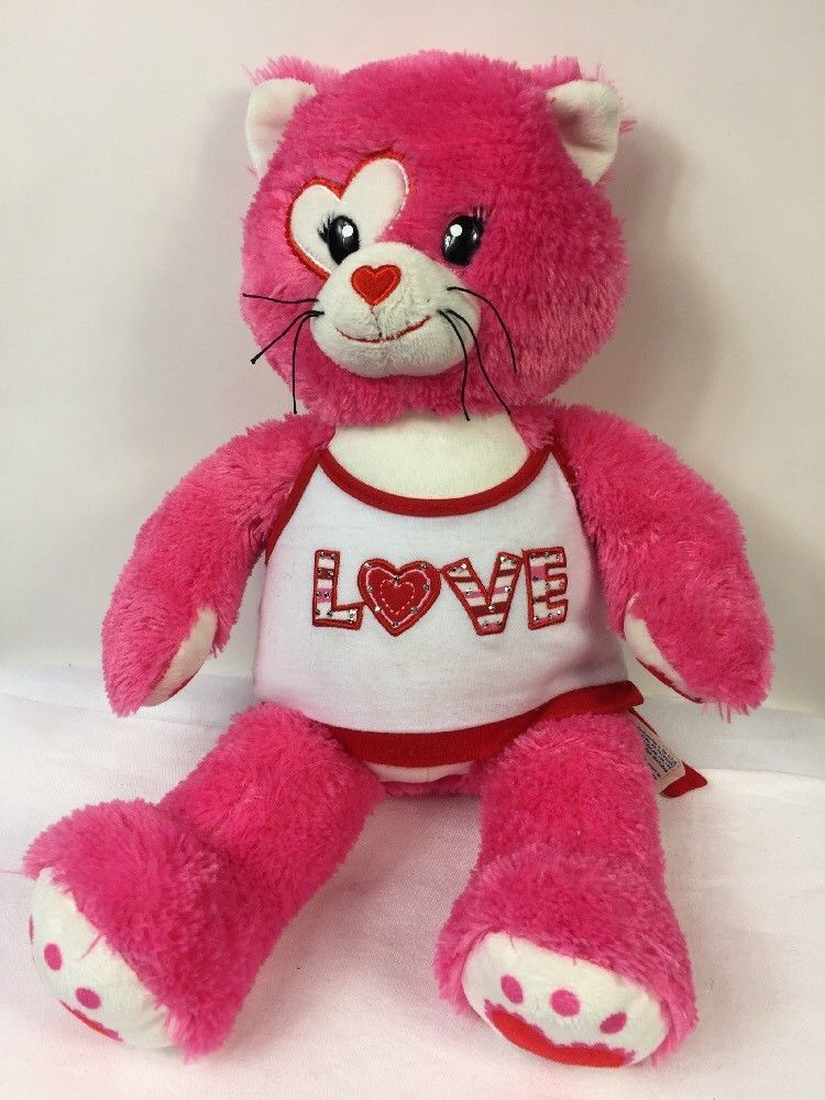 Build A Bear Kisses for You Cat Heart Eye Plush