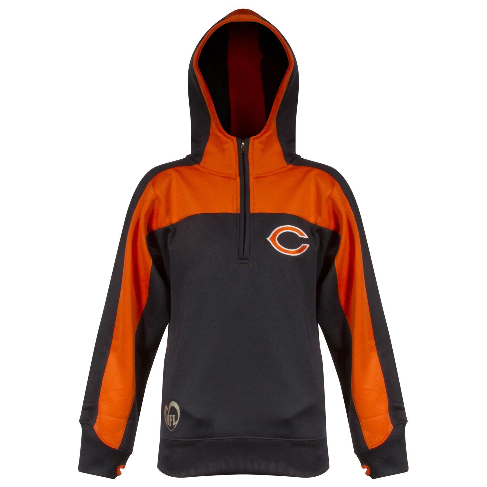 chicago bears quarter zip sweatshirt