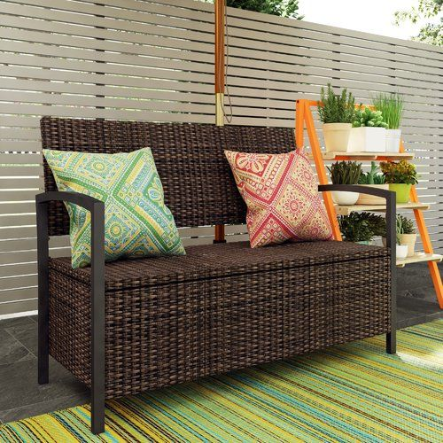 Cool Caracella Rattan Storage Bench Products In 2019 Storage Pabps2019 Chair Design Images Pabps2019Com