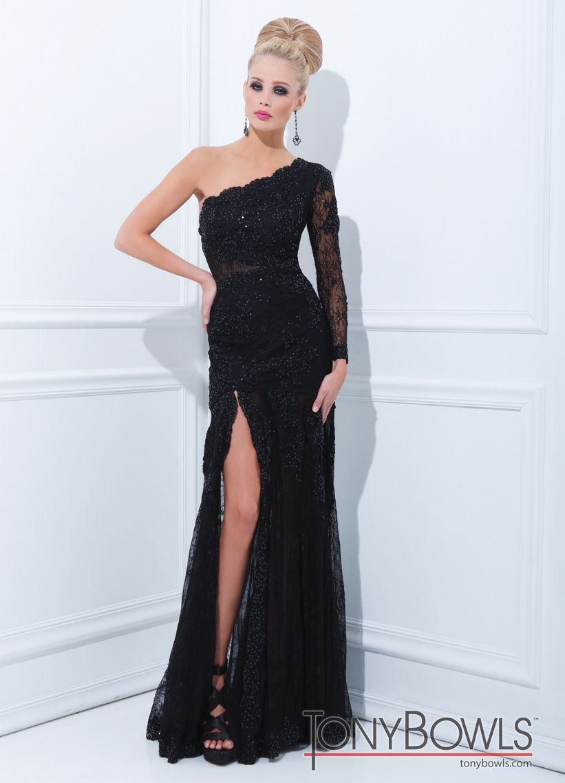 Tony bowls black evenings gown tony bowls black laces and gowns