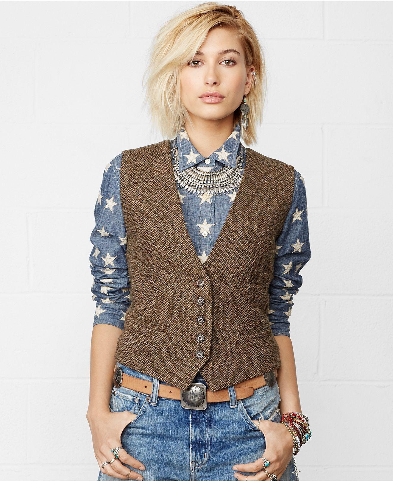 Denim Amp Supply Ralph Lauren Tweed Wool Vest Jackets