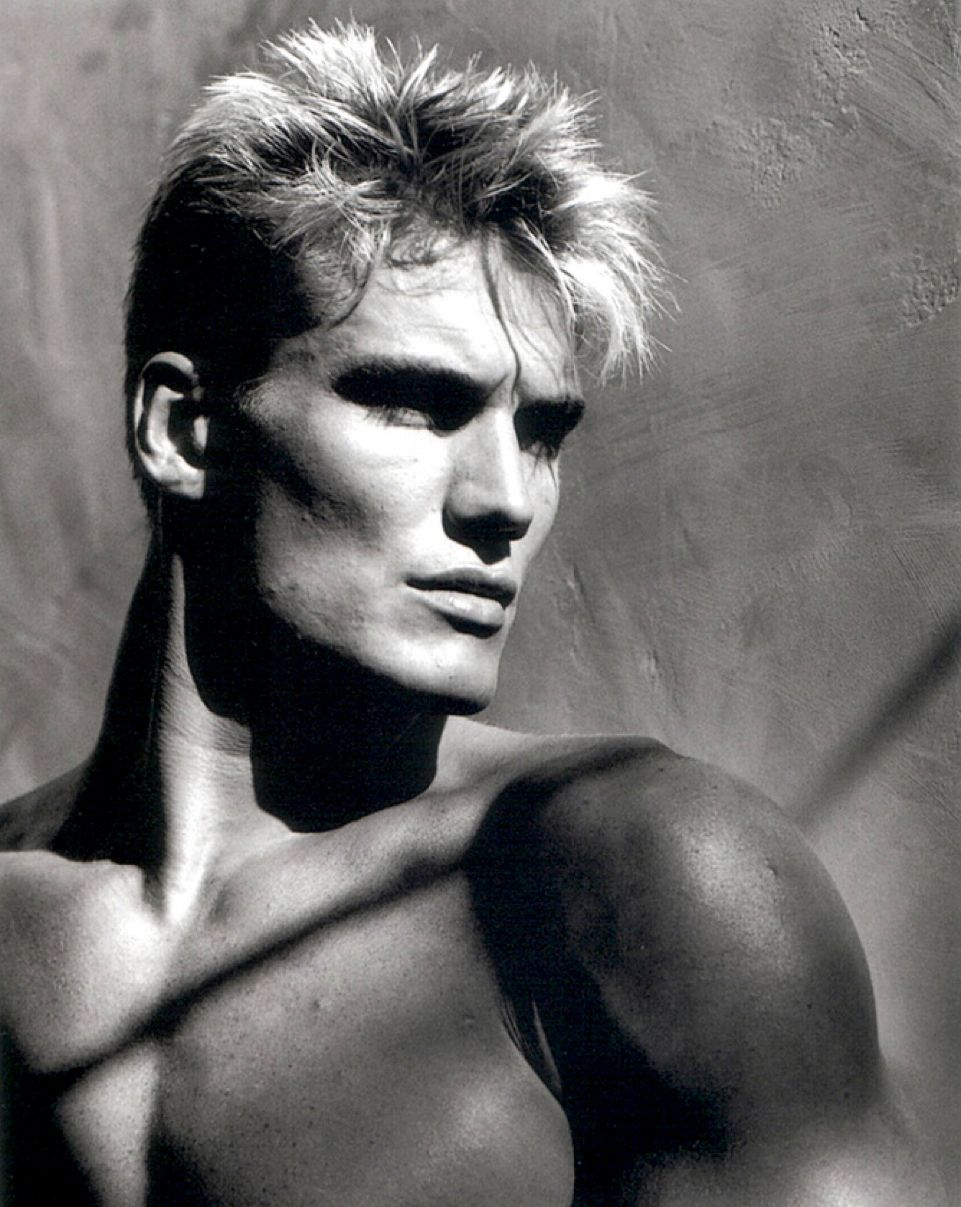 NOT the right look for a successful Hollywood actor. Dolph Lundgren was a towering 6 ft 4 former Swedish Marine, a deep booming voice, a master's degree in chemical engineering, a Fulbright Scholar at MIT, a 160 IQ Mensan and fluent in several languages, oh, and twice the Karate champion of Europe. He made your typical studio weasel singularly uncomfortable. Were it not for S. Stalone, he was relegated to direct-to-video work. #hollywoodactor
