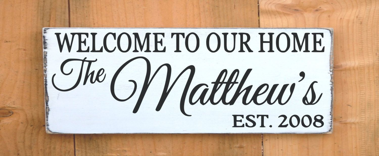 Personalized Family Name Sign Outdoor House Welcome Signs Rustic ...
