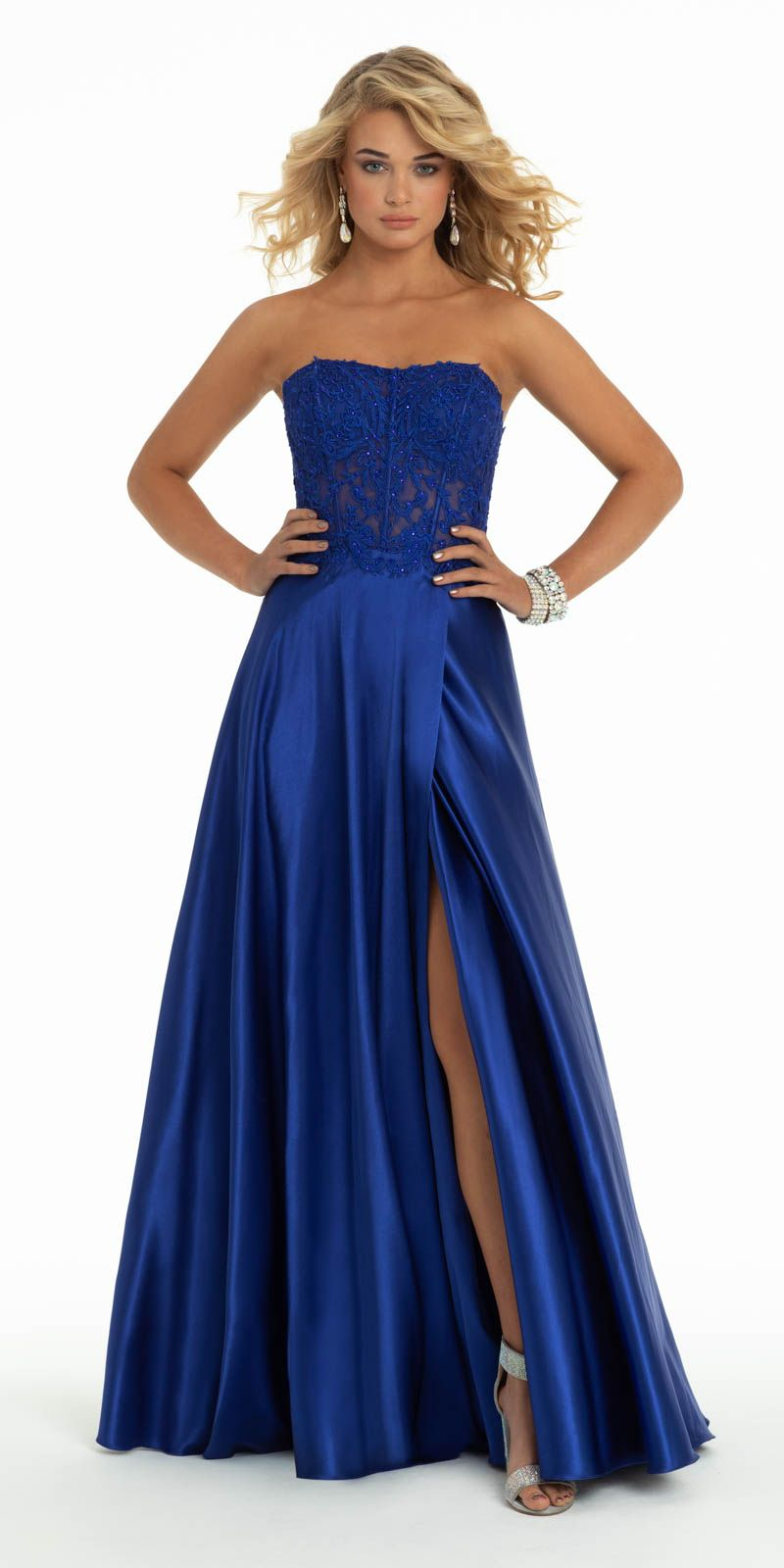 Embroidered Corset Lace Up Back Satin Dress Lace Corset Dresses Satin Dresses