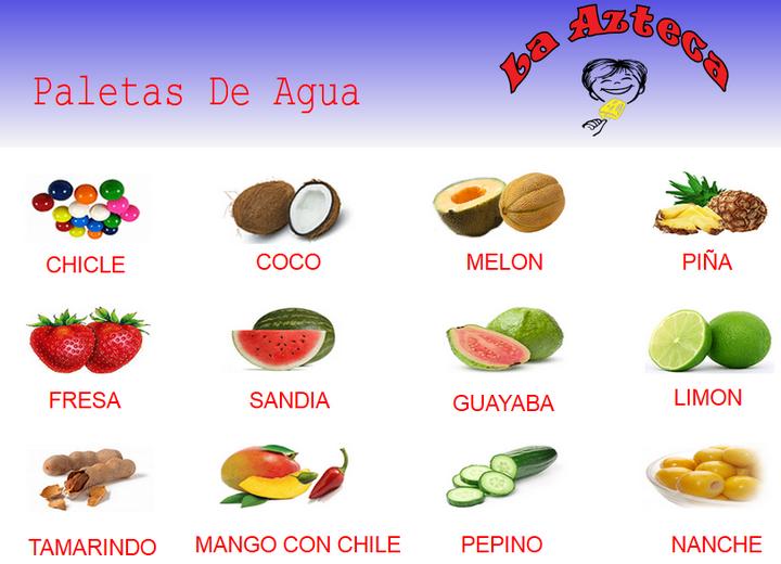 Billetes Los Sabores De Paletas La Azteca Food Health Spanish Resources