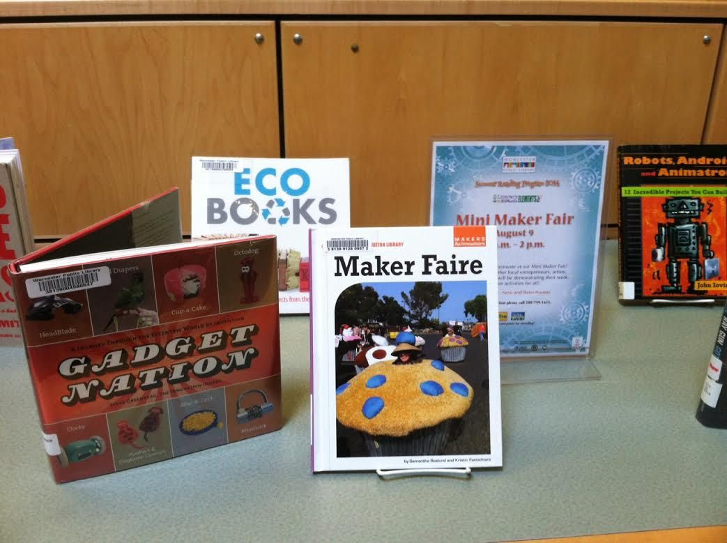 Join us on 8/9 from 10am-2pm in the Banx and Saxe Rooms for a Mini Maker Fair!
