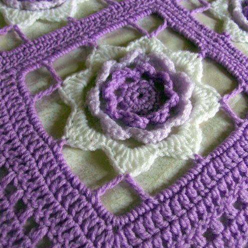 Pinwheel Rose Afghan Pattern Pa623 499 Maggie Weldon Free