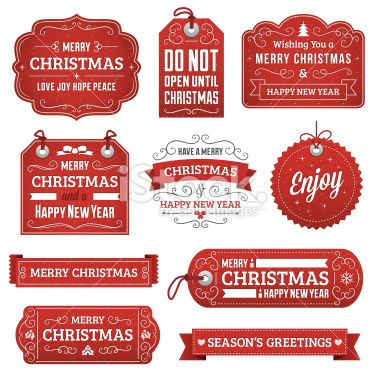 Christmas Gift Tags And Labels With Text Radial And Linear Gradients Christmas Labels Christmas Ephemera Christmas Gift Tags