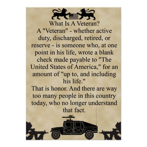 What is a veteran? poster | Zazzle.com