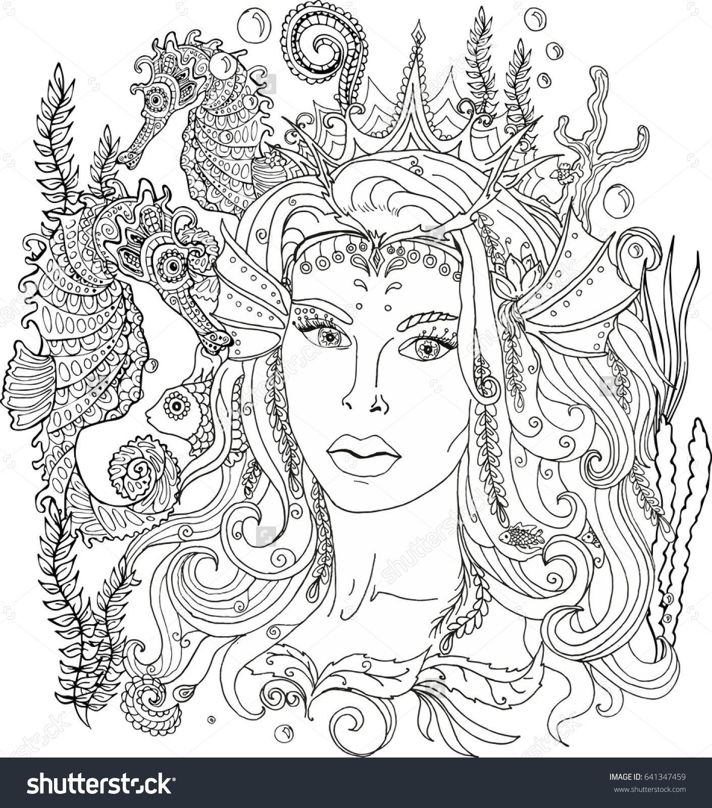 Icolor Mermaids Mermaid Coloring Book Mermaid Coloring Pages Mermaid Coloring