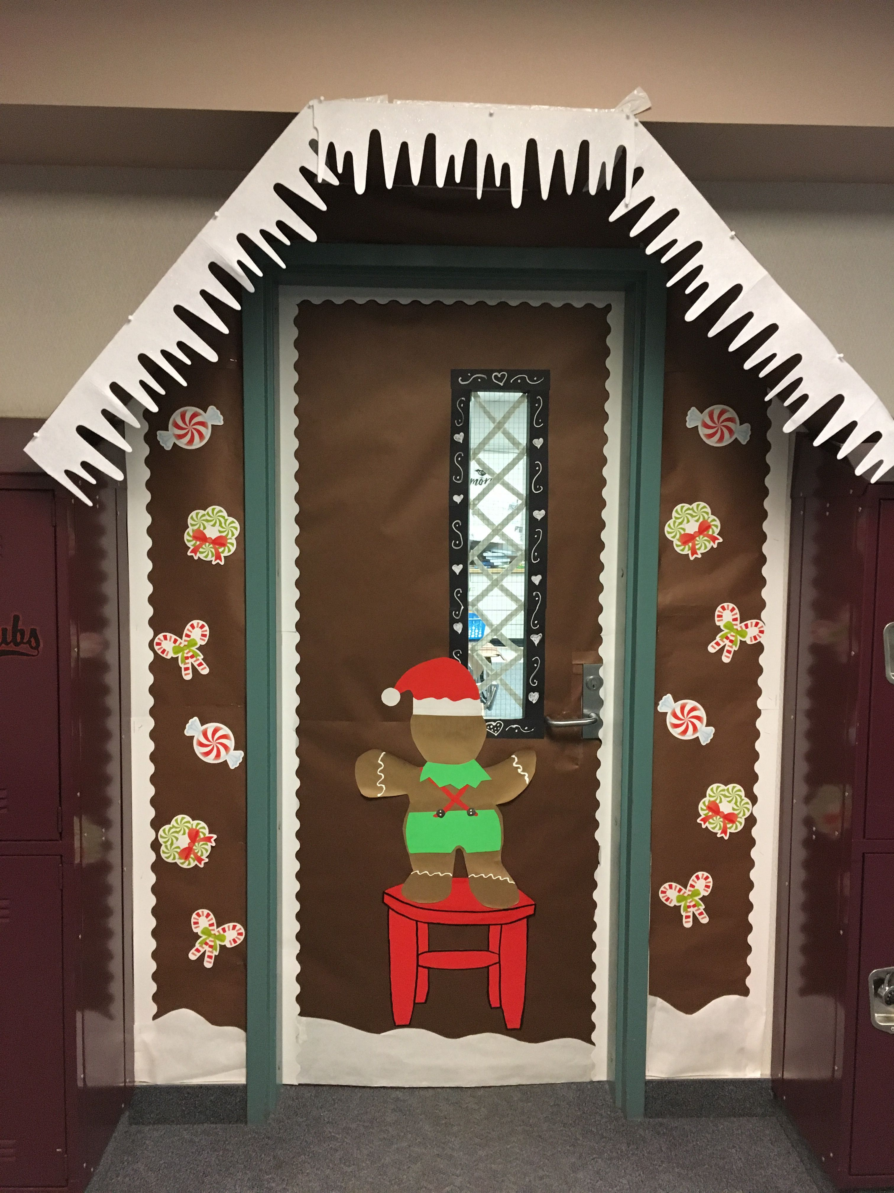 Gingerbread House Door Decorating With Images