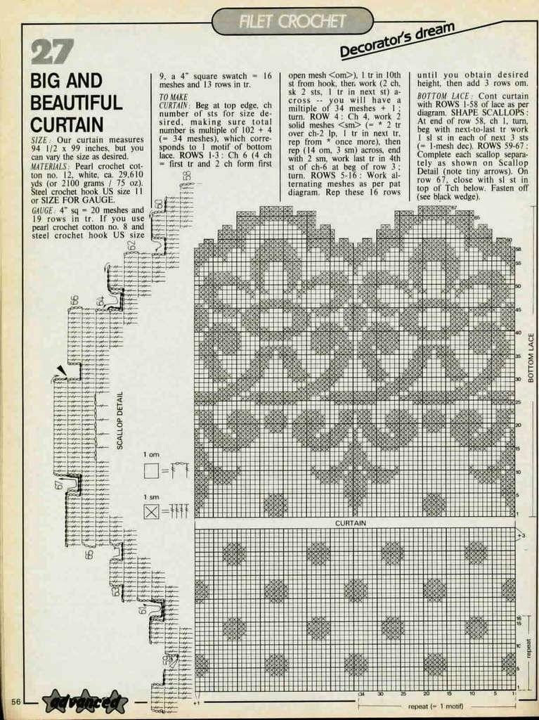 Szydełkomania: Firana | Crochet | Pinterest
