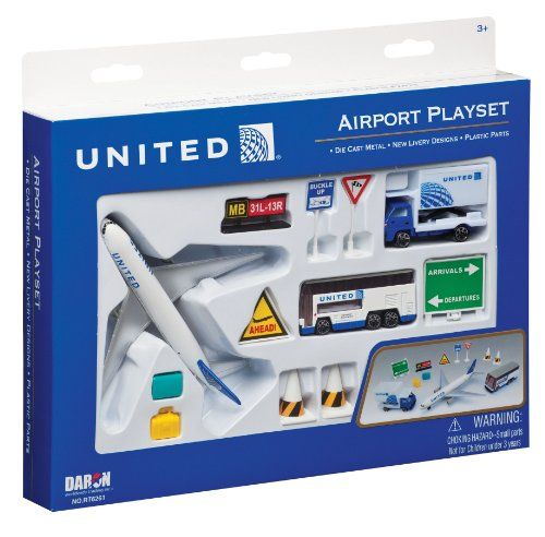 Daron United Airlines Airport Playset #deals